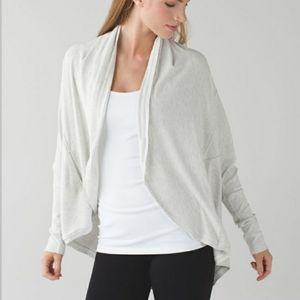 Lululemon Heathered Mod White To & Flow Wrap
